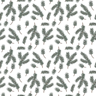 전나무 나무 완벽 한 패턴입니다. 소나무 가지