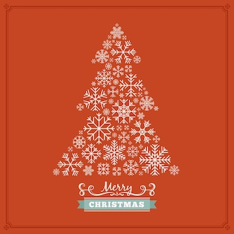 Fir-tree-shape christmas decorating design
