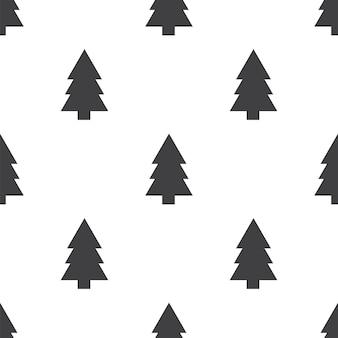 전나무 나무, 벡터 원활한 패턴, 편집 가능 웹 페이지 배경, 패턴 채우기에 사용할 수 있습니다.