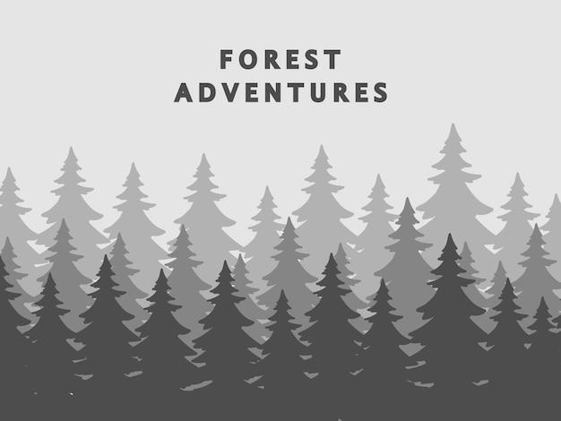 Fir trees silhouettes