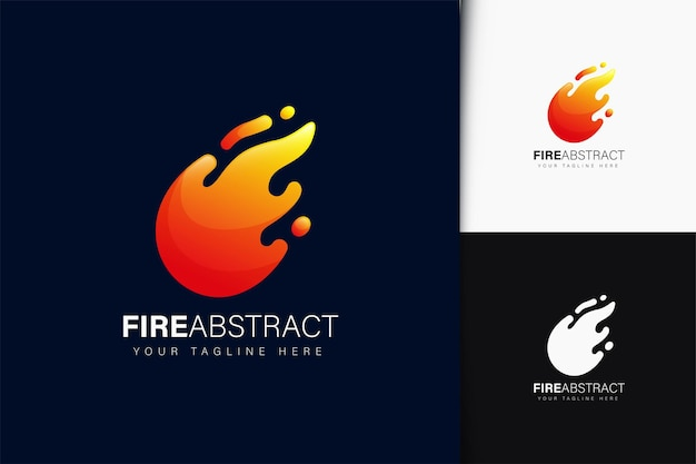 그라데이션으로 화재 추상 로고 디자인
