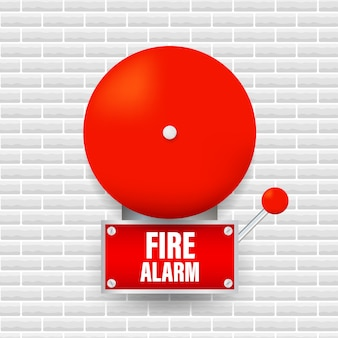 Fire alarm system. fire equipment. illustration