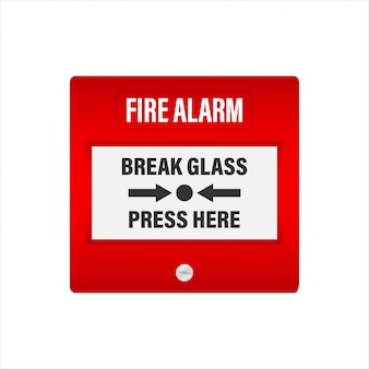 Fire alarm system. fire equipment.   stock illustration