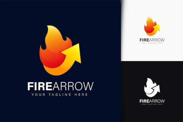 그라디언트가 있는 불 화살표 로고 디자인