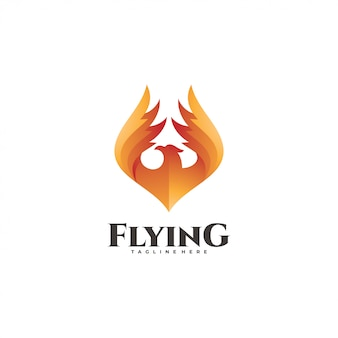 Fire bird logotype