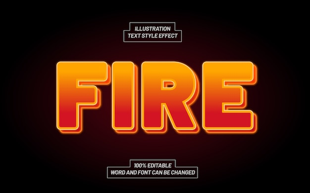 Fire bold text style effect