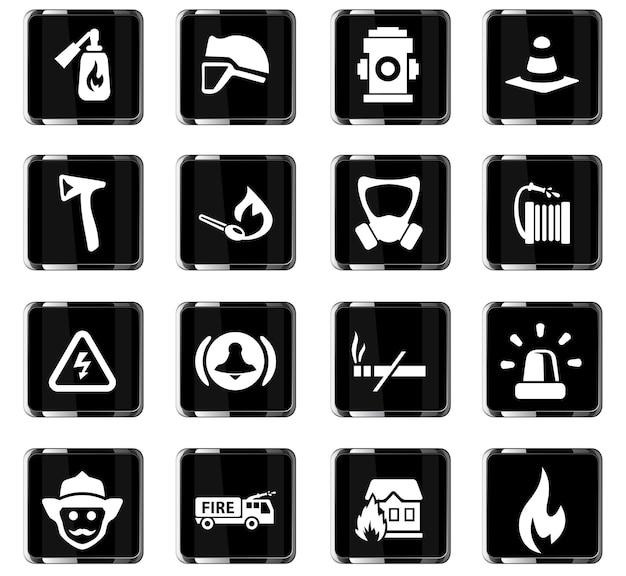 사용자 인터페이스 디자인을 위한 소방대 벡터 아이콘