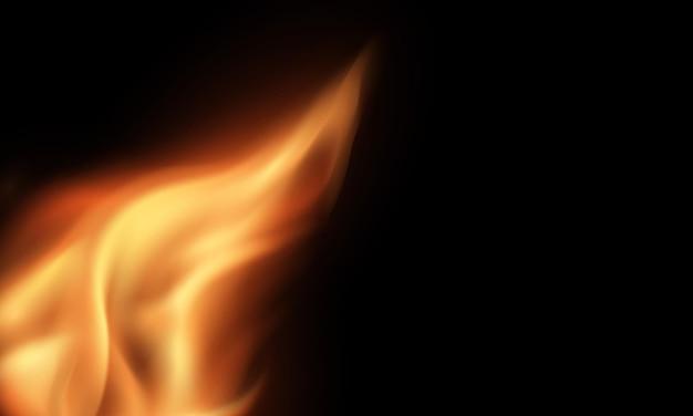 화재 불타는 붉은 뜨거운 불꽃 현실적인 추상적 인 배경
