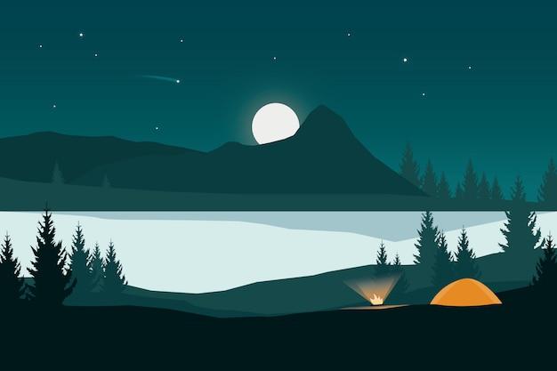 Fire camp landscape