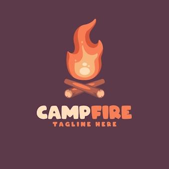 あなたの会社の火の漫画のロゴ