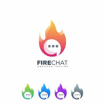 Логотип fire chat