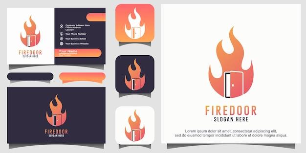 방화문 불꽃 로고 디자인