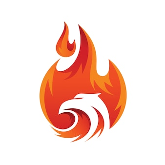 Fire eagle abstract logo