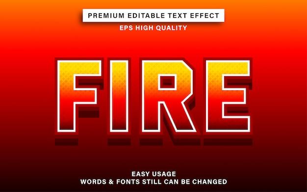Fire editable text effect