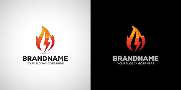 Fire electric logo