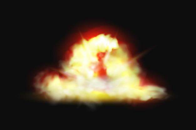 Огонь взрыв бомба взрыв реалистичный эффект дыма