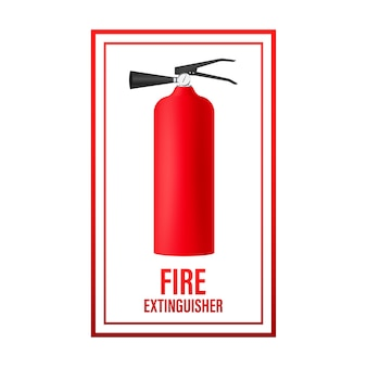 Fire extinguisher aimed at the fire. protection symbol.