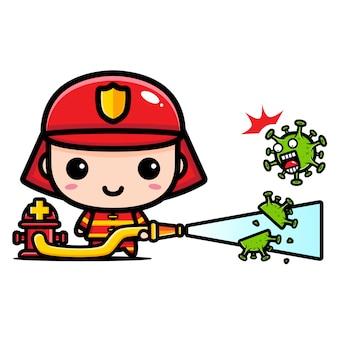 Fire extinguisher design against coronavirus