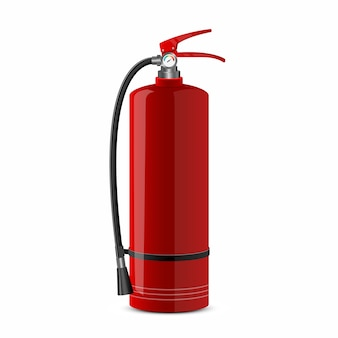 Fire extinguisher design illustration isolated on white background
