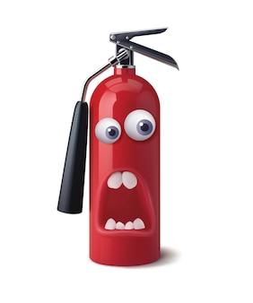 パニックを表す消火器の顔。