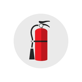 Fire extinguisher icon cartoon style. single silhouette fire equipment icon. flat style.