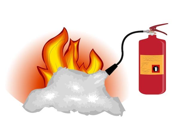 Огнетушитель, изолированные на белом фоне
