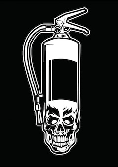Fire extinguisher skull