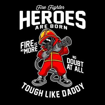 消防士のヒーローは生まれた子供の漫画のキャラクター