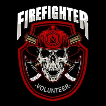 Fire fighter skull emblem