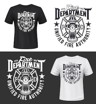 Fire and firefighters department t-shirt print