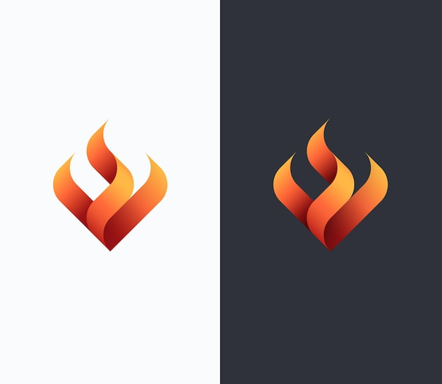 Fire, flame concept, vector isolated conceptual symbol, logo, logotype.