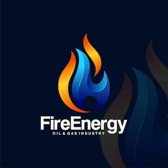 火炎要素のロゴデザイン