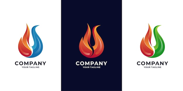 Fire flame and energy logo