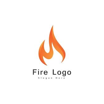 Fire flame logo design vector template drop silhouette. creative droplet burn elegant bonfire logotype fire logo concept icon.