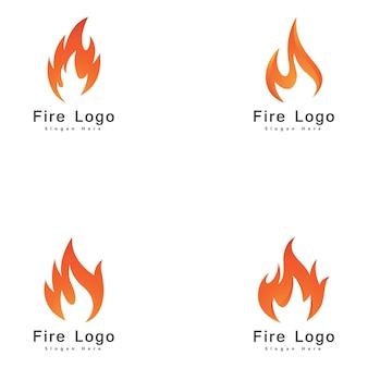 Огонь пламя логотип дизайн вектор шаблон падение силуэт. creative droplet burn элегантный логотип bonfire логотип концепции огня.