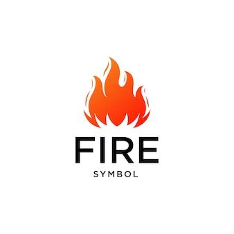 Шаблон вектора дизайна логотипа пламени огня