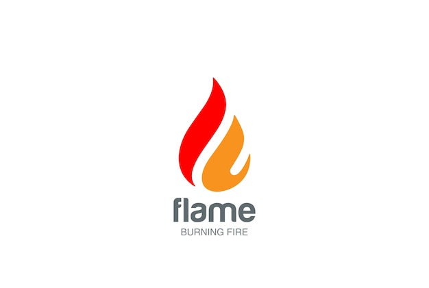 Fire flame logo icon.