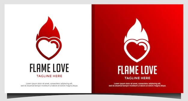 火炎愛のロゴデザイン
