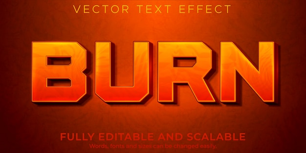 Fire flame text effect editable red and hot style