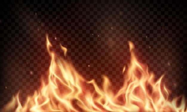 화재 불길 불타는 붉은 뜨거운 불꽃 현실적인 추상적 인 배경