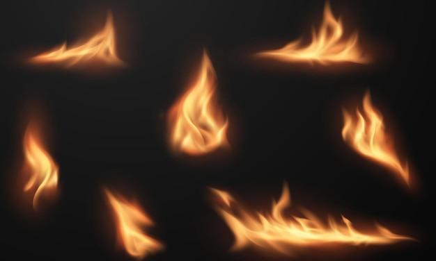 Огонь пламя горящие красные горячие искры реалистичный абстрактный фон