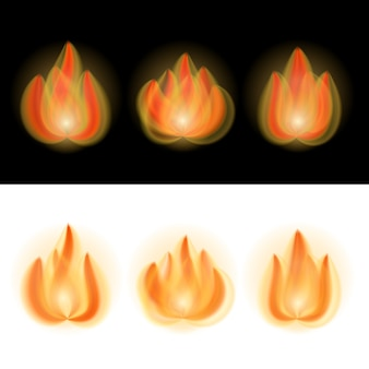 Fire flames isolated