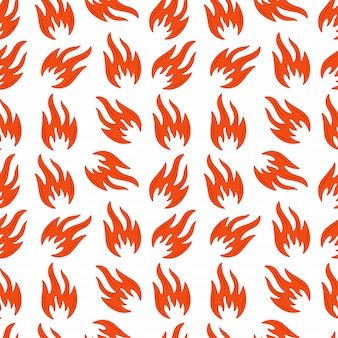 Fire flames seamless pattern. spurts of flame