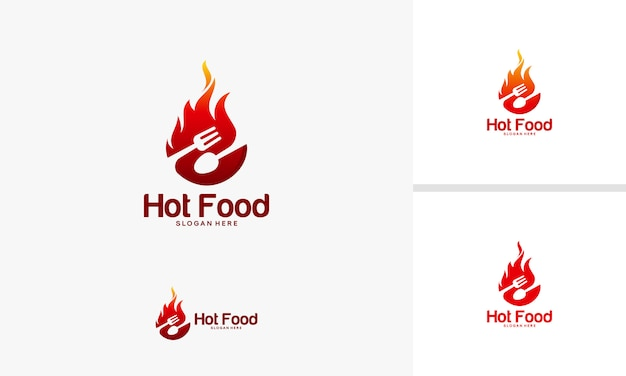 Fire food symbol vector