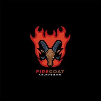 Fire goat mascot   logo.