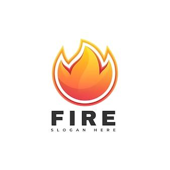 火のグラデーションカラフルなスタイルのロゴのテンプレート