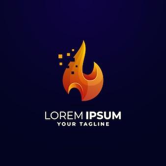 Fire gradient logo