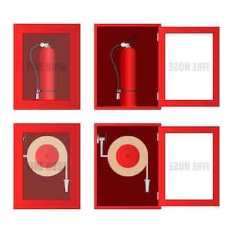 Fire hose cabinet  illustration