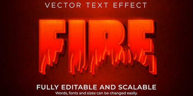 Fire hot text effect, editable flame and red text style