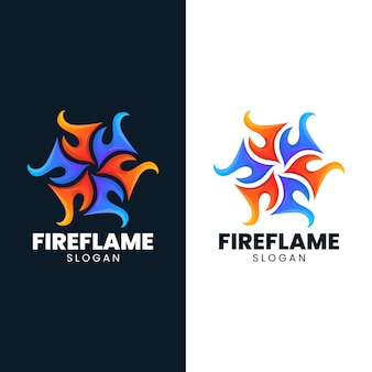 Fire ice flame abstract blaze hot logo